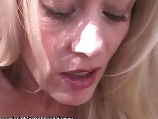 Amateur Blonde Blowjob Close Up Daddy Facials BBW Granny
