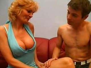 Blonde Blowjob Big Cock Couch Cougar Doggy Style Double Penetration Granny