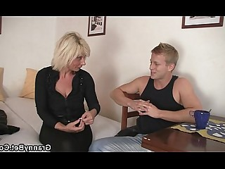 Blonde Granny Housewife Mammy Mature Old and Young Teen Wife