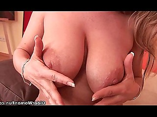 Blonde Bus Busty Cougar Dildo Fuck Housewife Mammy