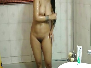 Amateur Bathroom Big Tits Boobs Dress Indian Mammy MILF
